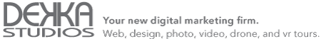 Dekka Studios, your new digital marketing firm for Hazleton, Allentown, and surrounding areas offering web design, graphic design, photography, video production, FAA licensed aerial drone imaging, and VR tours.